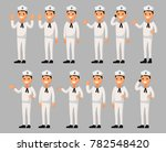 set of a sailor man cartoon... | Shutterstock .eps vector #782548420