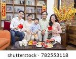 vietnamese family celebrate...   Shutterstock . vector #782553118
