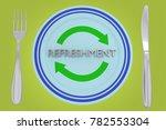 3d illustration of refreshment...