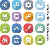 flat vector icon set   gear...   Shutterstock .eps vector #782553526