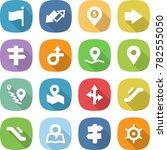 flat vector icon set   flag... | Shutterstock .eps vector #782555050
