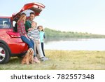 young family with cute children ... | Shutterstock . vector #782557348