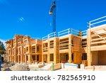 new residential building under... | Shutterstock . vector #782565910