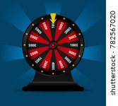 realistic 3d spinning fortune... | Shutterstock .eps vector #782567020