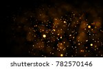 Gold Abstract Bokeh Background. ...