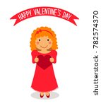 cute valentine's day card with... | Shutterstock . vector #782574370