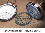stopwatch and a rubber stamp... | Shutterstock . vector #782581540
