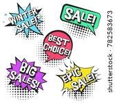 bright contrast retro comic... | Shutterstock .eps vector #782583673