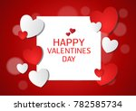 vector love of valentine day | Shutterstock .eps vector #782585734