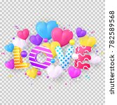 colorful composition of happy... | Shutterstock .eps vector #782589568
