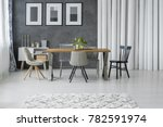 patterned carpet in grey dining ... | Shutterstock . vector #782591974