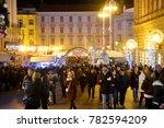 zagreb  croatia   december 26.  ... | Shutterstock . vector #782594209