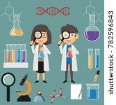 couple scientist illustration.... | Shutterstock .eps vector #782596843