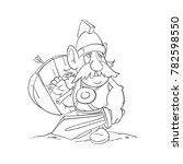 viking cartoon circuit drawing | Shutterstock .eps vector #782598550