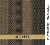 set of art deco seamless... | Shutterstock .eps vector #782603230