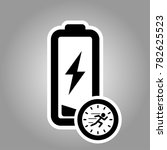 fast charging battery icon for... | Shutterstock .eps vector #782625523