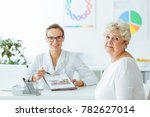 diabetic during appointment... | Shutterstock . vector #782627014