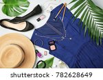 composition with dark blue...   Shutterstock . vector #782628649