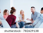 smiling group of teenagers... | Shutterstock . vector #782629138