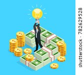 busines concept of crowdfunding.... | Shutterstock . vector #782629528