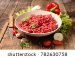 minced beef and spice | Shutterstock . vector #782630758