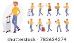 cartoon character design male... | Shutterstock .eps vector #782634274