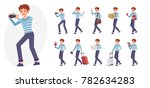 cartoon character design male... | Shutterstock .eps vector #782634283