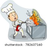 illustration of a chef using... | Shutterstock .eps vector #782637160