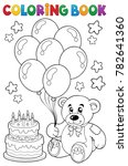 coloring book teddy bear theme... | Shutterstock .eps vector #782641360