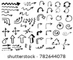 doodle vector arrows. isolated. ... | Shutterstock .eps vector #782644078