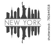 new york usa skyline vector art ... | Shutterstock .eps vector #782644318