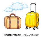 travel suitcases isolated ... | Shutterstock .eps vector #782646859