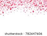 vector pink   red valentines... | Shutterstock .eps vector #782647606