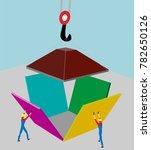 symbol of construction.... | Shutterstock .eps vector #782650126