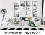 spacious botanic themed bedroom ... | Shutterstock . vector #782650144