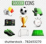 soccer set of icons with...