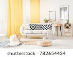 pillows with geometric pattern... | Shutterstock . vector #782654434