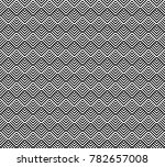seamless pattern with striped... | Shutterstock .eps vector #782657008
