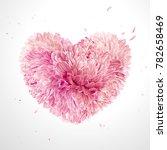 heart of flowers  for valentine'... | Shutterstock .eps vector #782658469