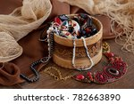jewelry in the background of... | Shutterstock . vector #782663890