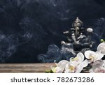 orchid flowers and hindu god... | Shutterstock . vector #782673286