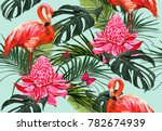 beautiful seamless vector... | Shutterstock .eps vector #782674939