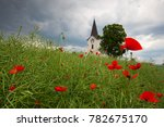 Lonely Church In The Poppy...