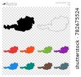 austria high detailed map.... | Shutterstock .eps vector #782675524