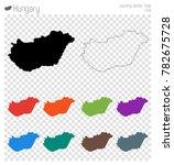 hungary high detailed map....   Shutterstock .eps vector #782675728