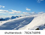 almost empty ski slopes in... | Shutterstock . vector #782676898
