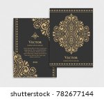 gold vintage greeting card on a ... | Shutterstock .eps vector #782677144