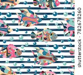 seamless pattern with hand draw ... | Shutterstock .eps vector #782678260
