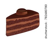 chocolate cake with chocolate... | Shutterstock .eps vector #782680780