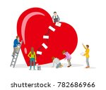 repair of heart   mental health ... | Shutterstock .eps vector #782686966